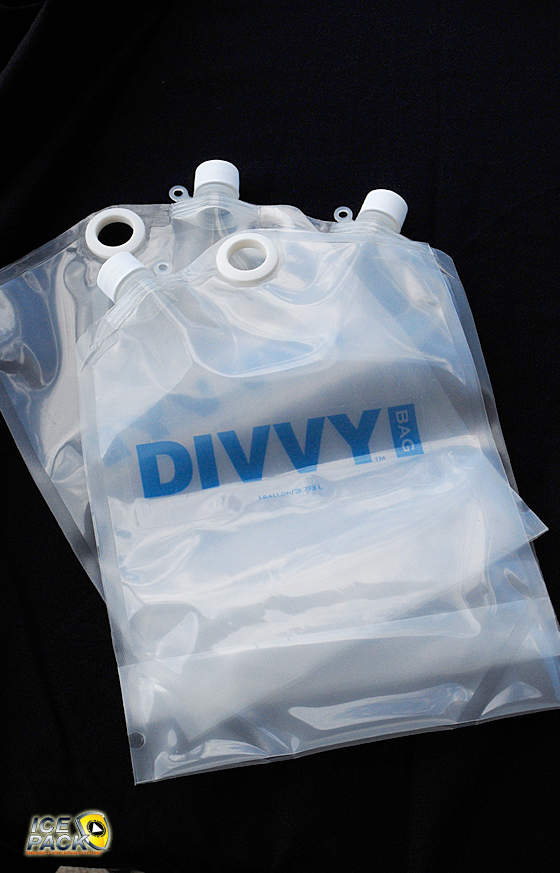 The portable 1 gallon containers for the DIVVY system are the perfect size for transporting the purified drinking water.